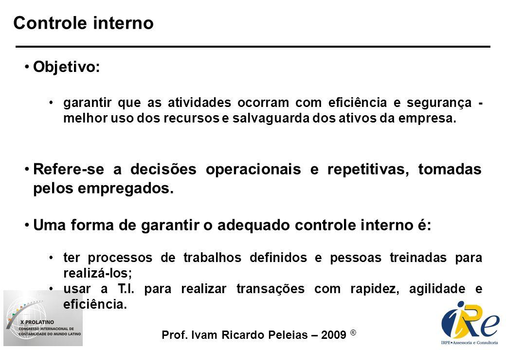 Controle interno Objetivo: