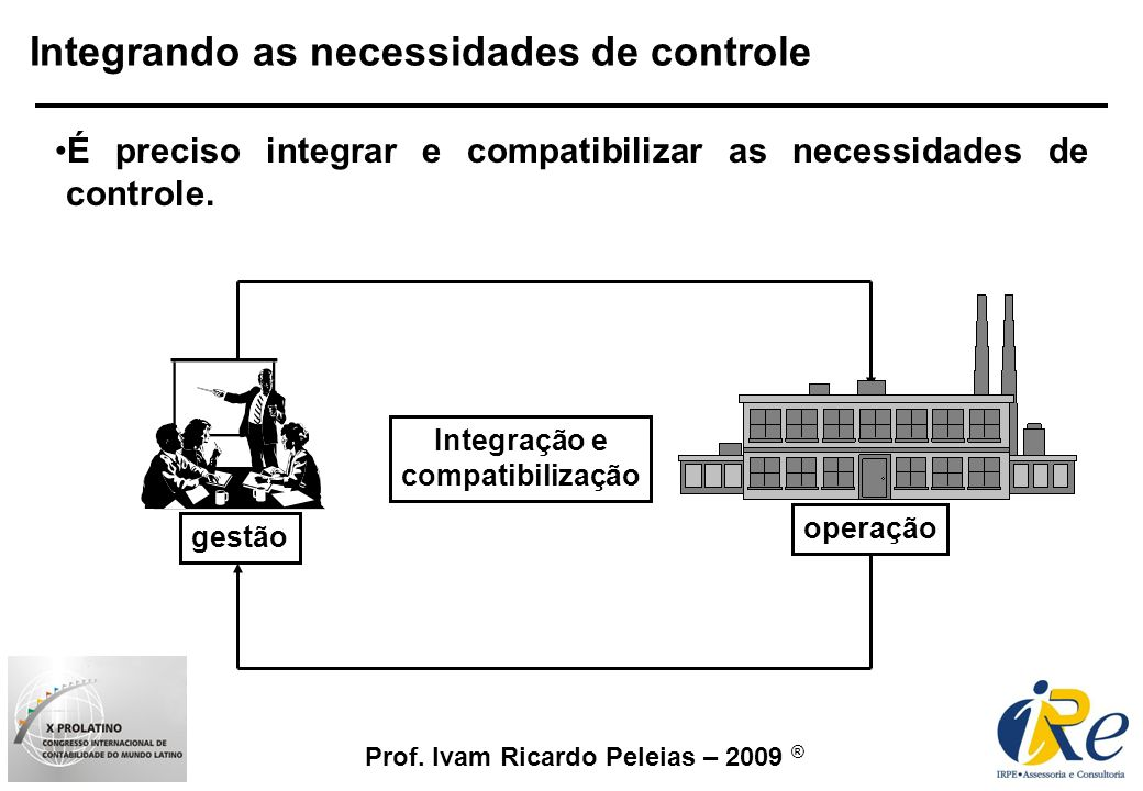 Integrando as necessidades de controle