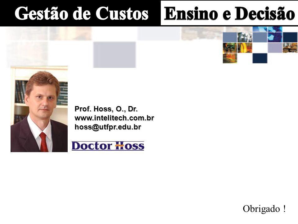 Prof. Hoss, O., Dr. www.intelitech.com.br hoss@utfpr.edu.br Obrigado !
