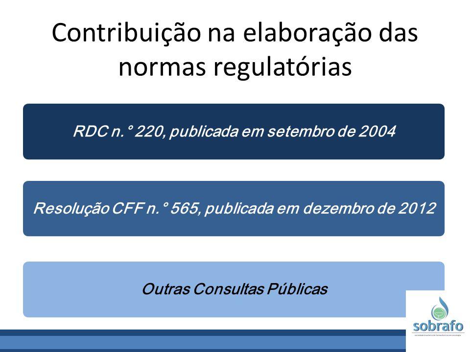 Contribuição na elaboração das normas regulatórias
