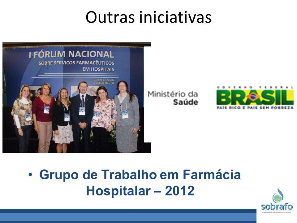 Grupo de Trabalho em Farmácia Hospitalar – 2012
