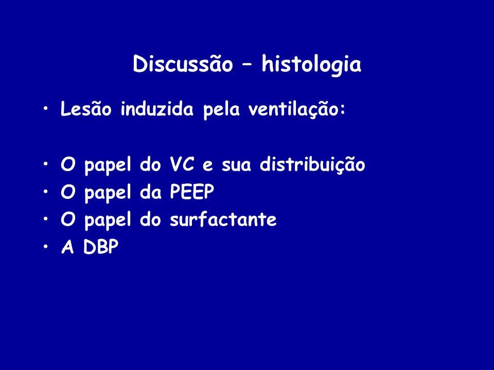 Discussão – histologia