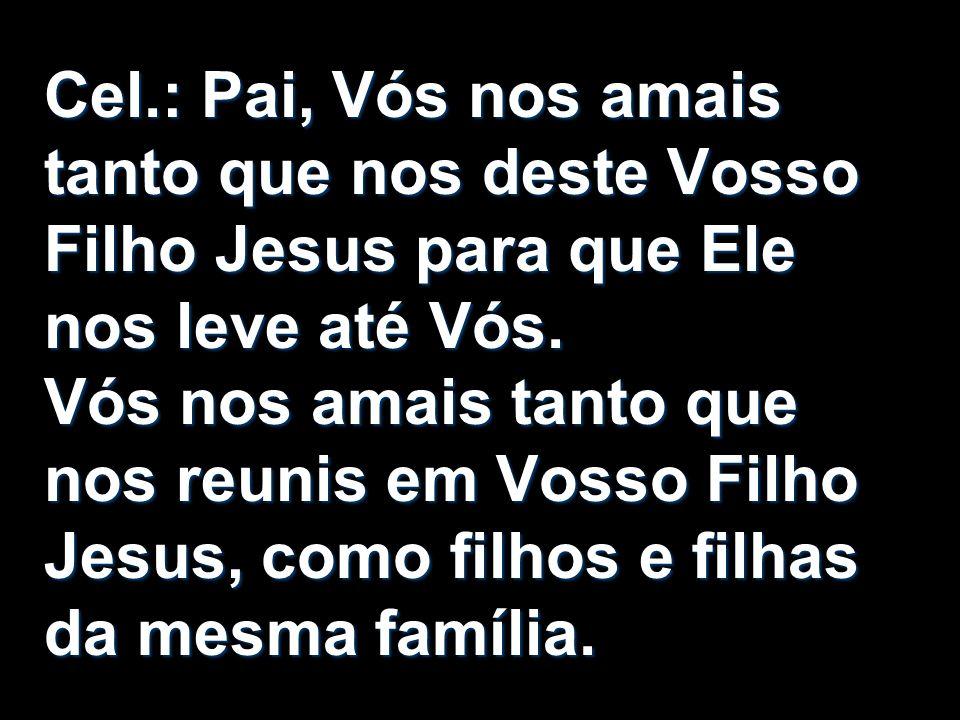 Cel.: Pai, Vós nos amais tanto que nos deste Vosso Filho Jesus para que Ele nos leve até Vós.