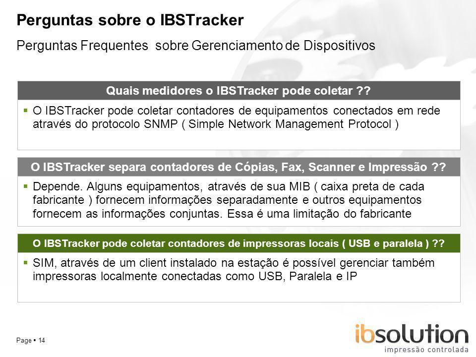 Perguntas sobre o IBSTracker