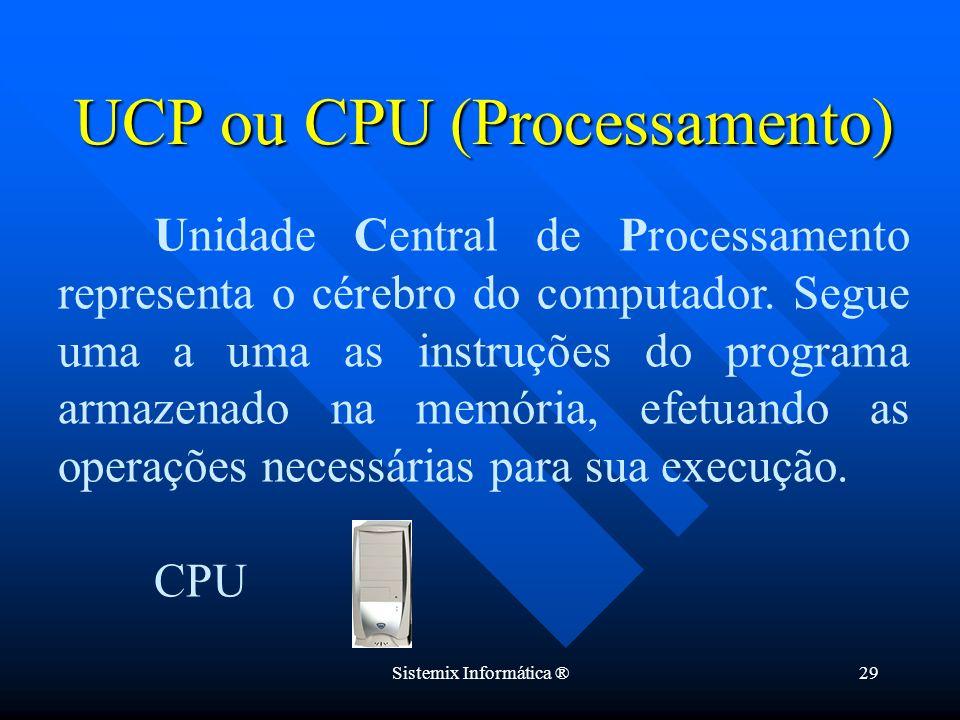UCP ou CPU (Processamento)