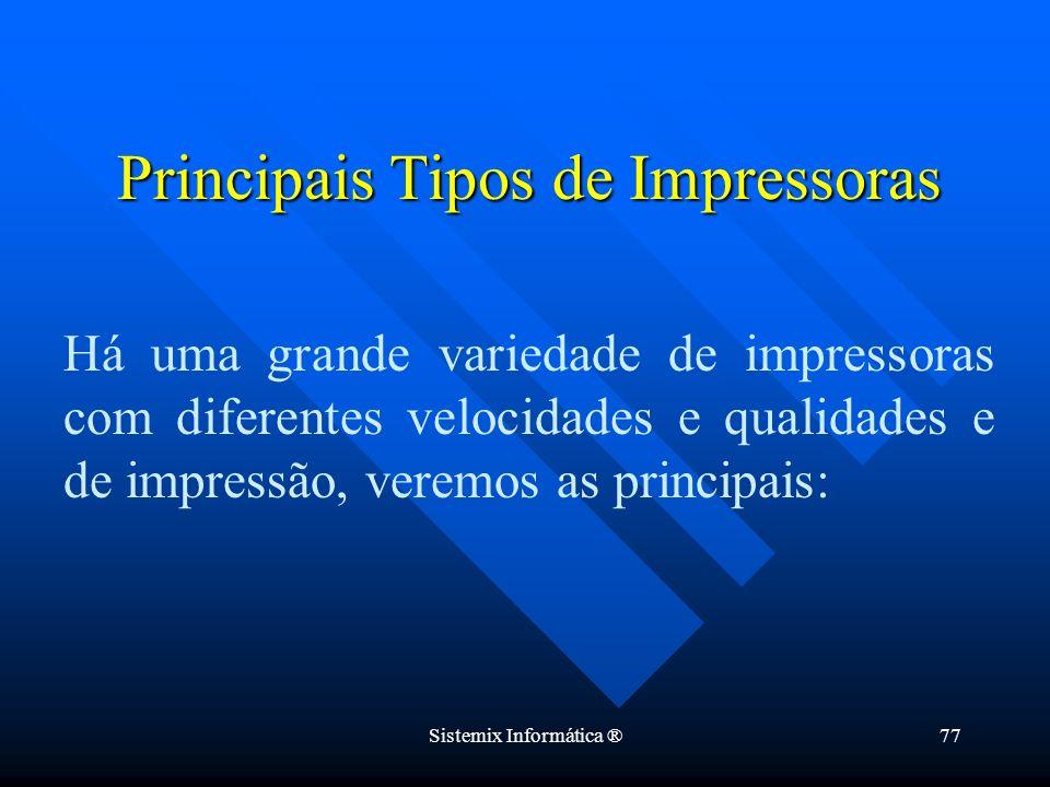 Principais Tipos de Impressoras