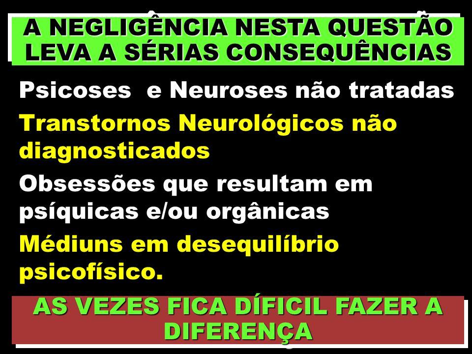 A NEGLIGÊNCIA NESTA QUESTÃO LEVA A SÉRIAS CONSEQUÊNCIAS
