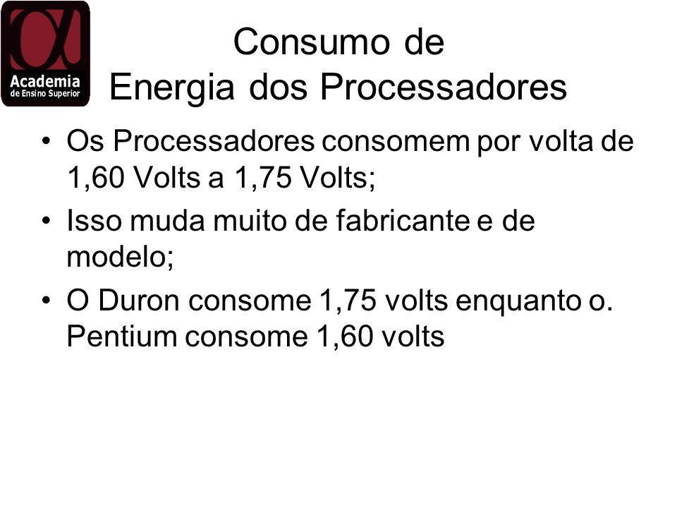 Consumo de Energia dos Processadores