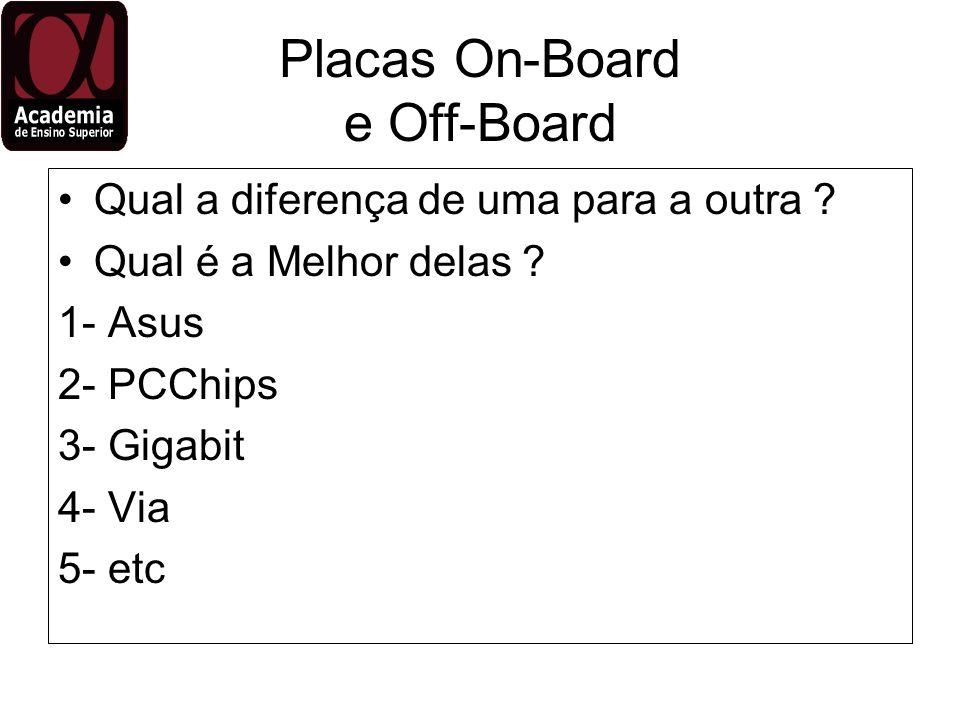 Placas On-Board e Off-Board