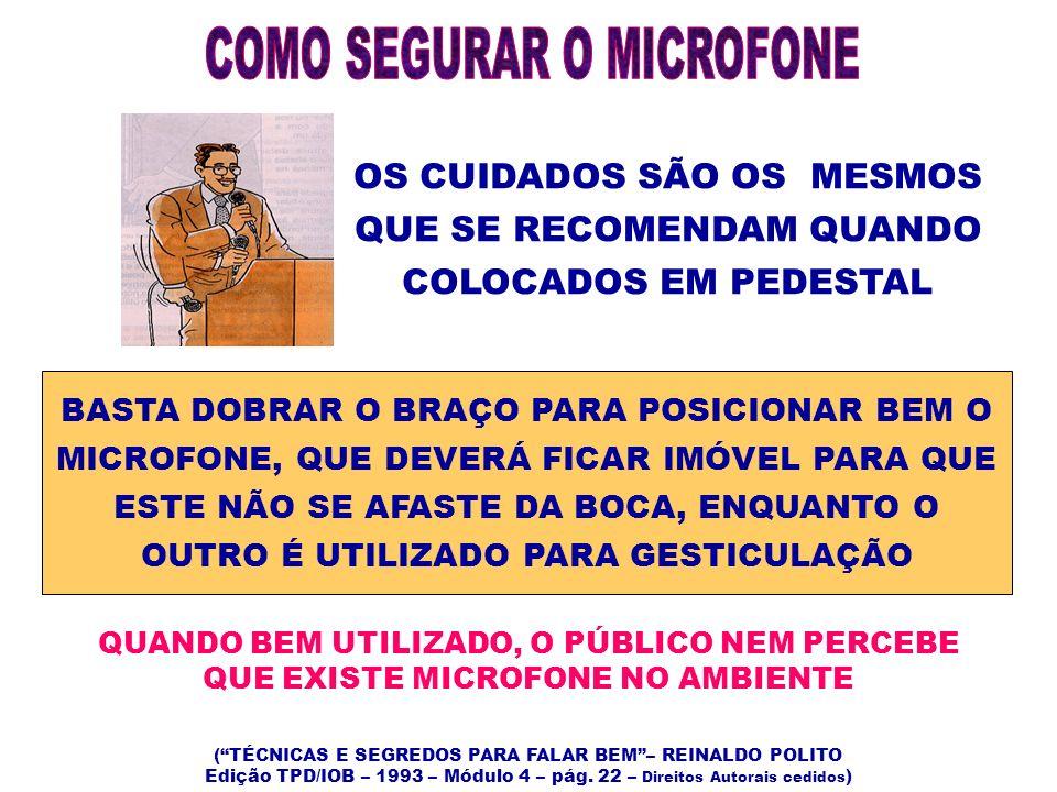 COMO SEGURAR O MICROFONE