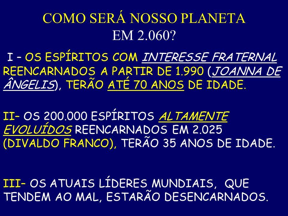 COMO SERÁ NOSSO PLANETA EM 2.060