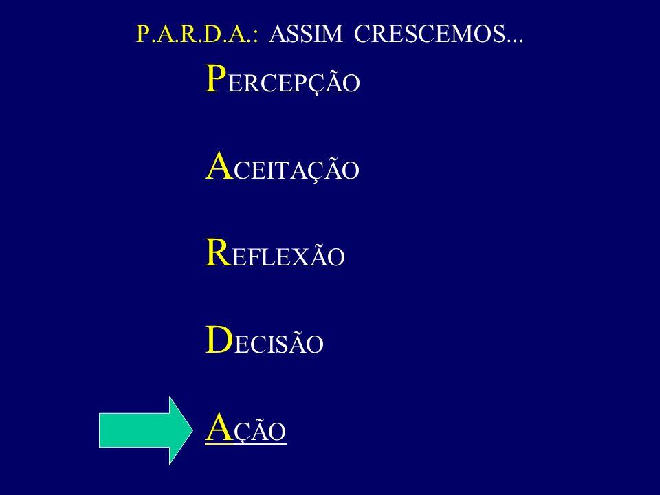 P.A.R.D.A.: ASSIM CRESCEMOS...