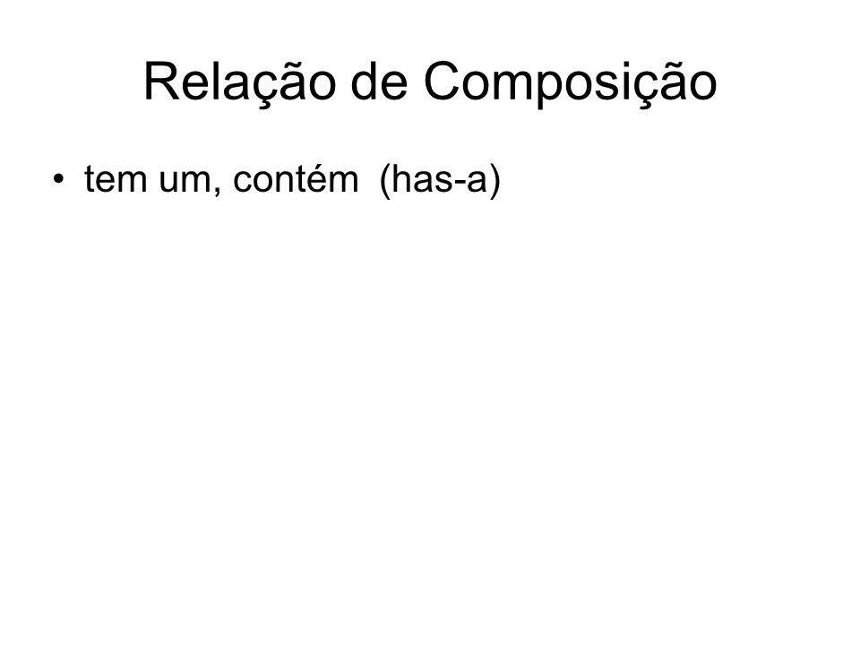 Relação de Composição tem um, contém (has-a)