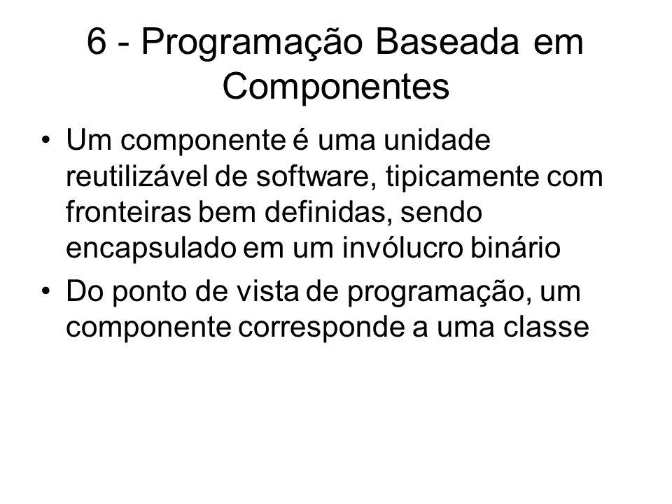 6 - Programação Baseada em Componentes