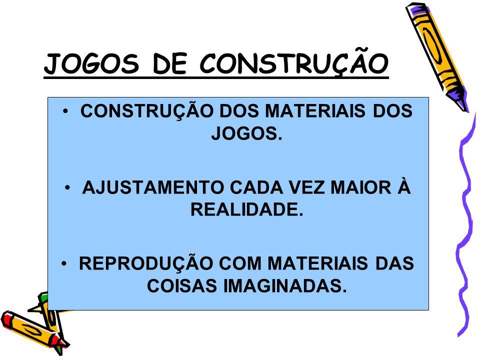 JOGOS DE CONSTRUÇÃO CONSTRUÇÃO DOS MATERIAIS DOS JOGOS.