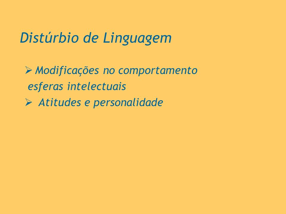 Distúrbio de Linguagem