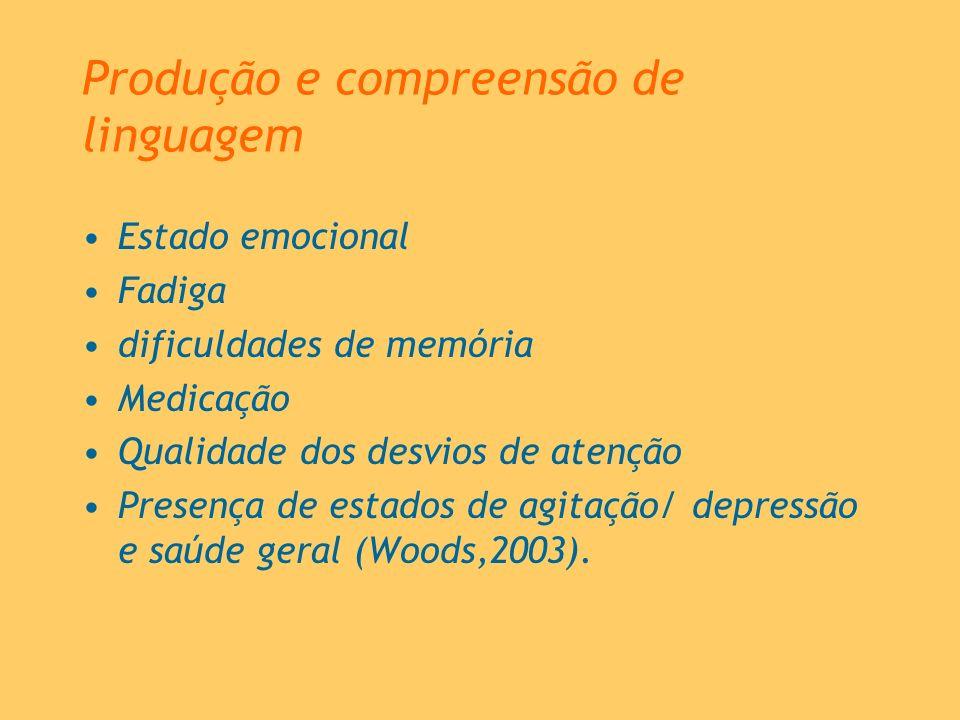 Produção e compreensão de linguagem