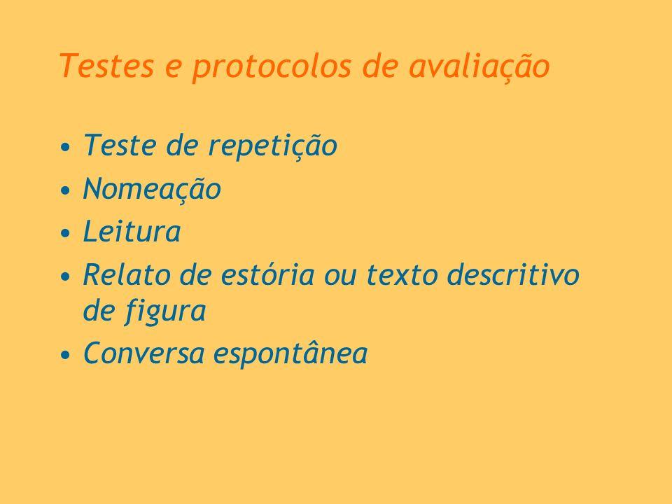 Testes e protocolos de avaliação