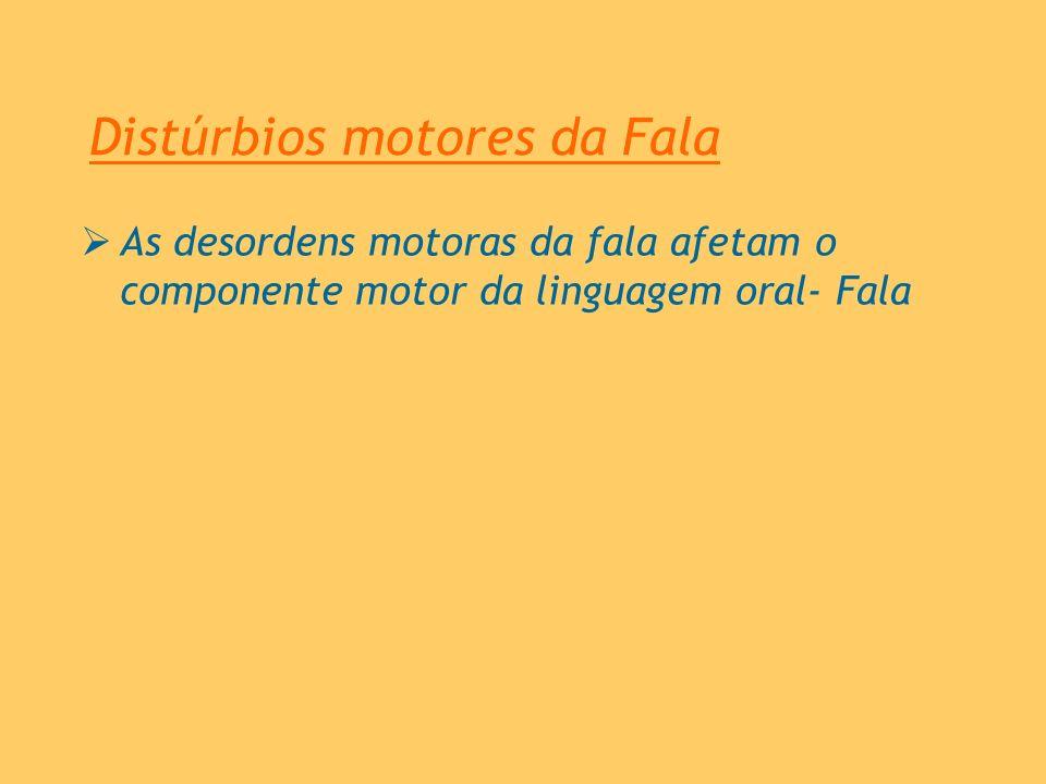 Distúrbios motores da Fala