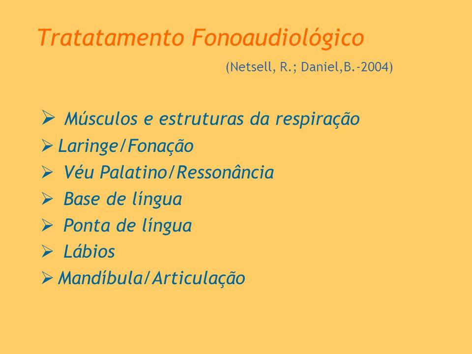 Tratatamento Fonoaudiológico (Netsell, R.; Daniel,B.-2004)