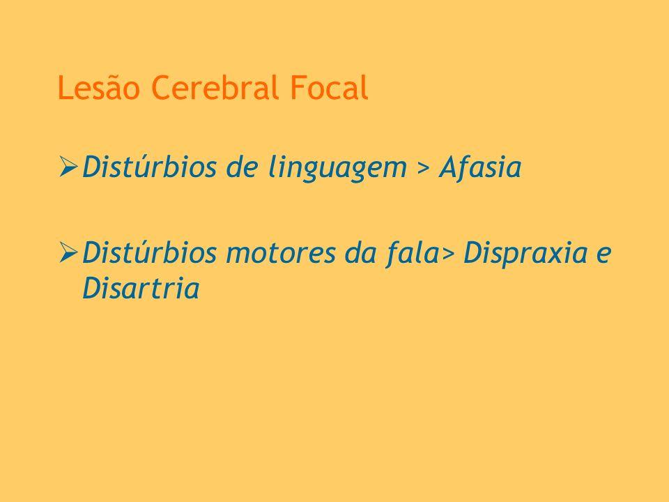 Lesão Cerebral Focal Distúrbios de linguagem > Afasia