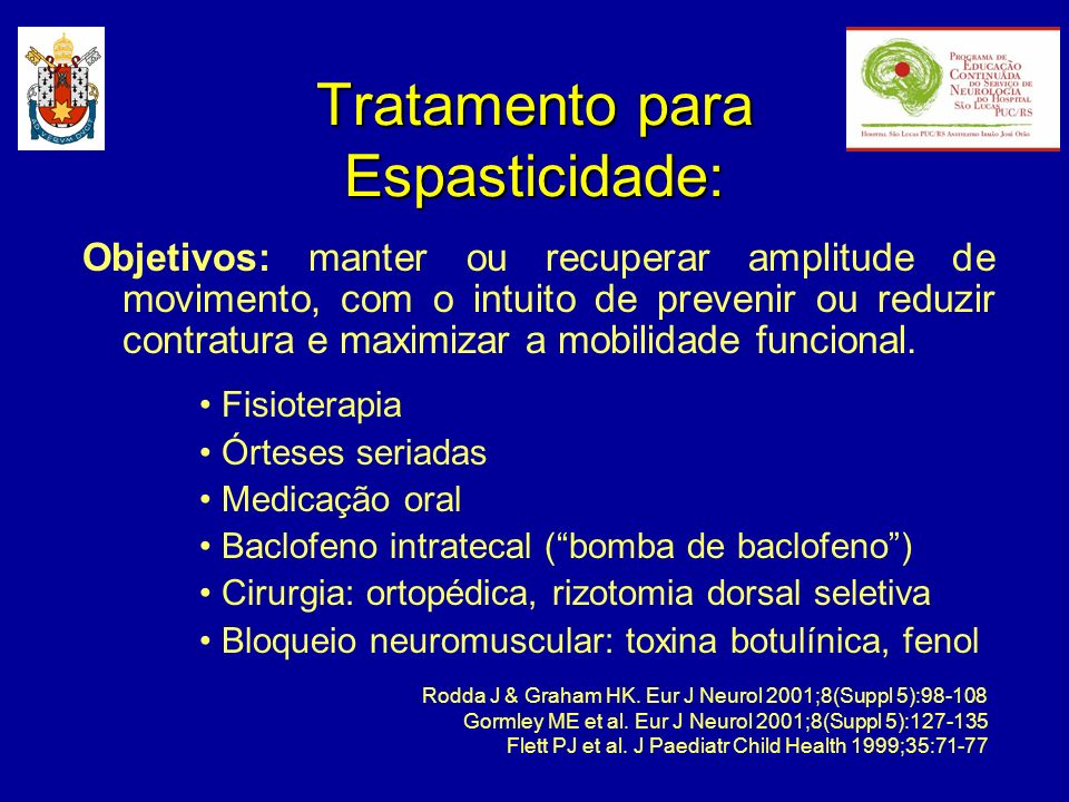 Tratamento para Espasticidade: