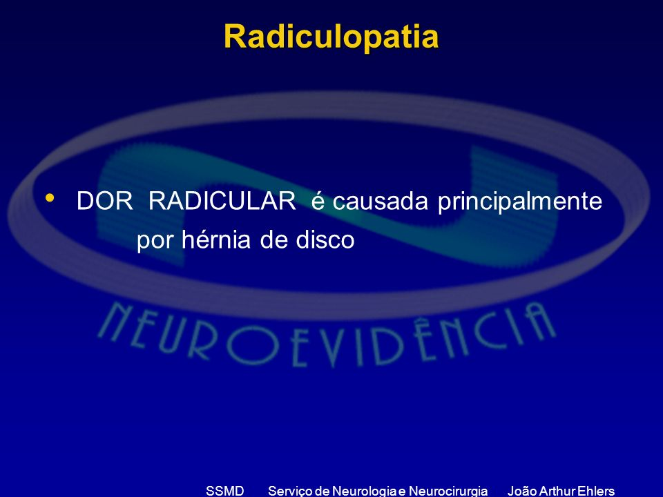 SSMD Serviço de Neurologia e Neurocirurgia João Arthur Ehlers