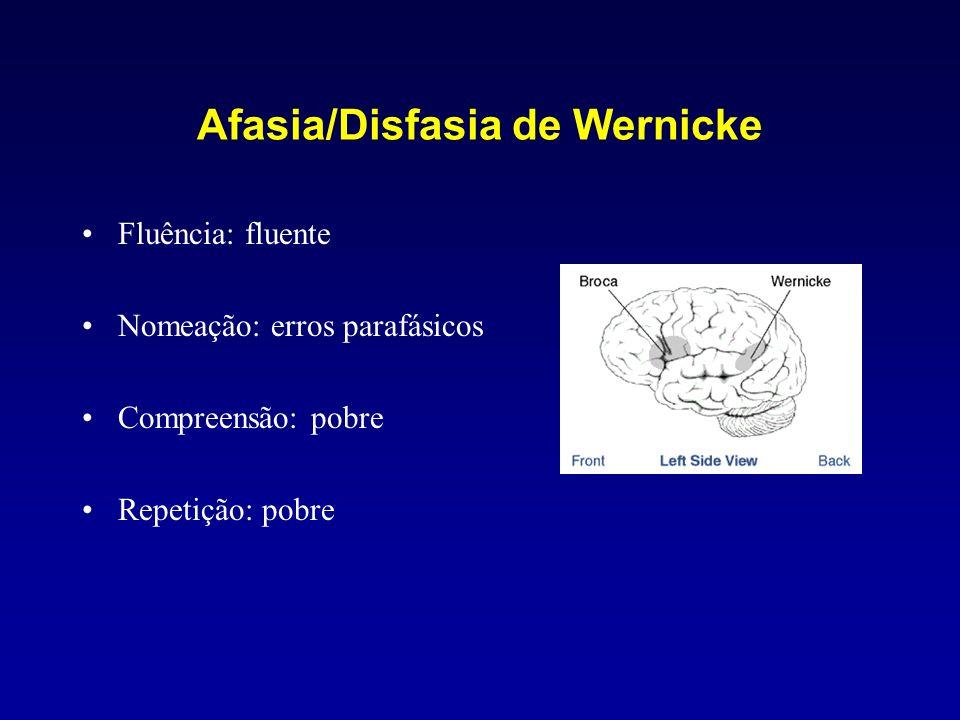 Afasia/Disfasia de Wernicke