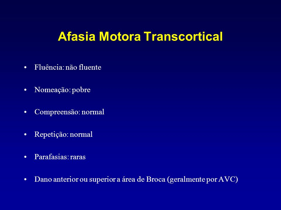 Afasia Motora Transcortical