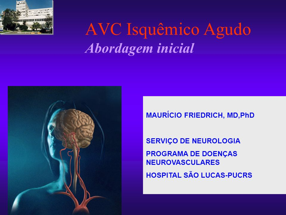 AVC Isquêmico Agudo Abordagem inicial