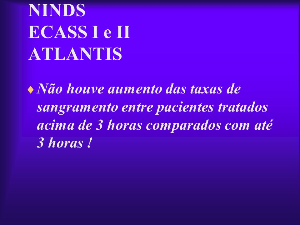 NINDS ECASS I e II ATLANTIS