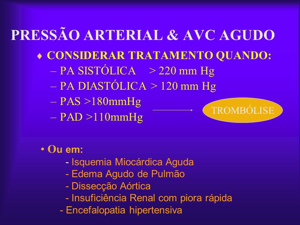 PRESSÃO ARTERIAL & AVC AGUDO