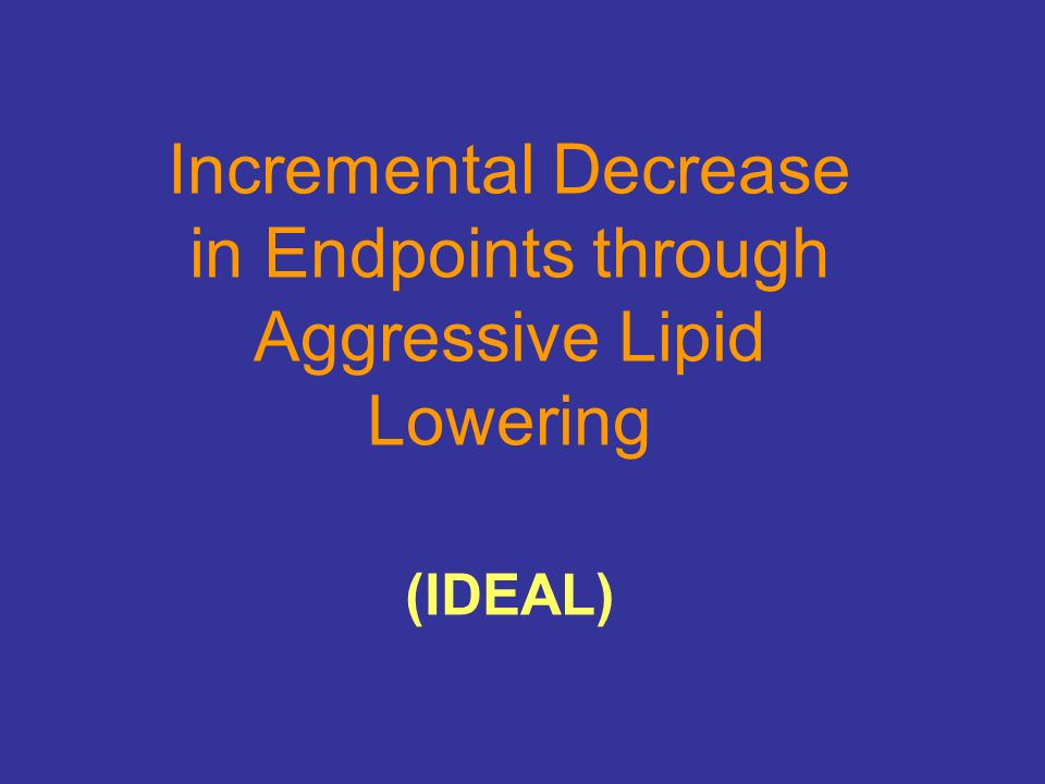 Incremental Decrease in Endpoints through Aggressive Lipid Lowering