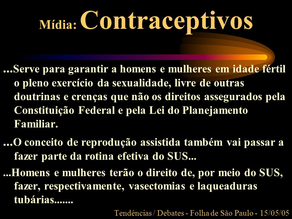 Mídia: Contraceptivos