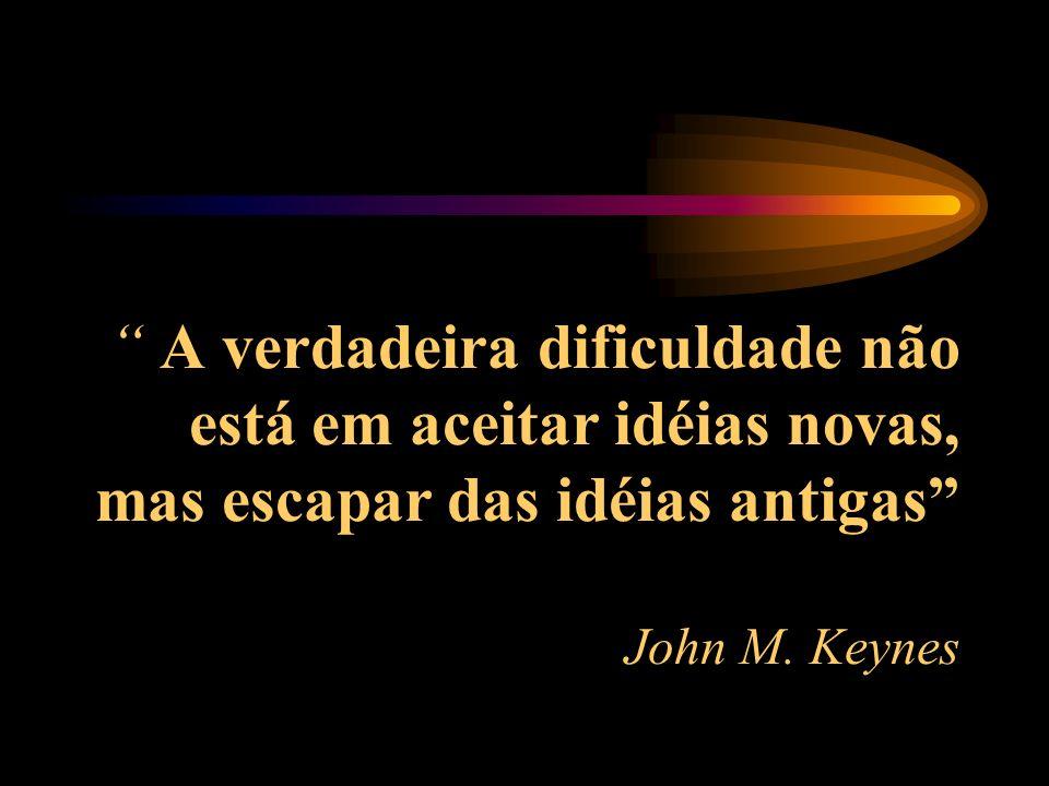 A verdadeira dificuldade não está em aceitar idéias novas, mas escapar das idéias antigas John M.