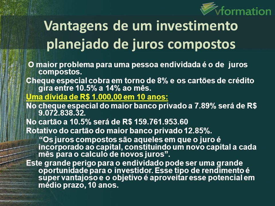 Vantagens de um investimento planejado de juros compostos