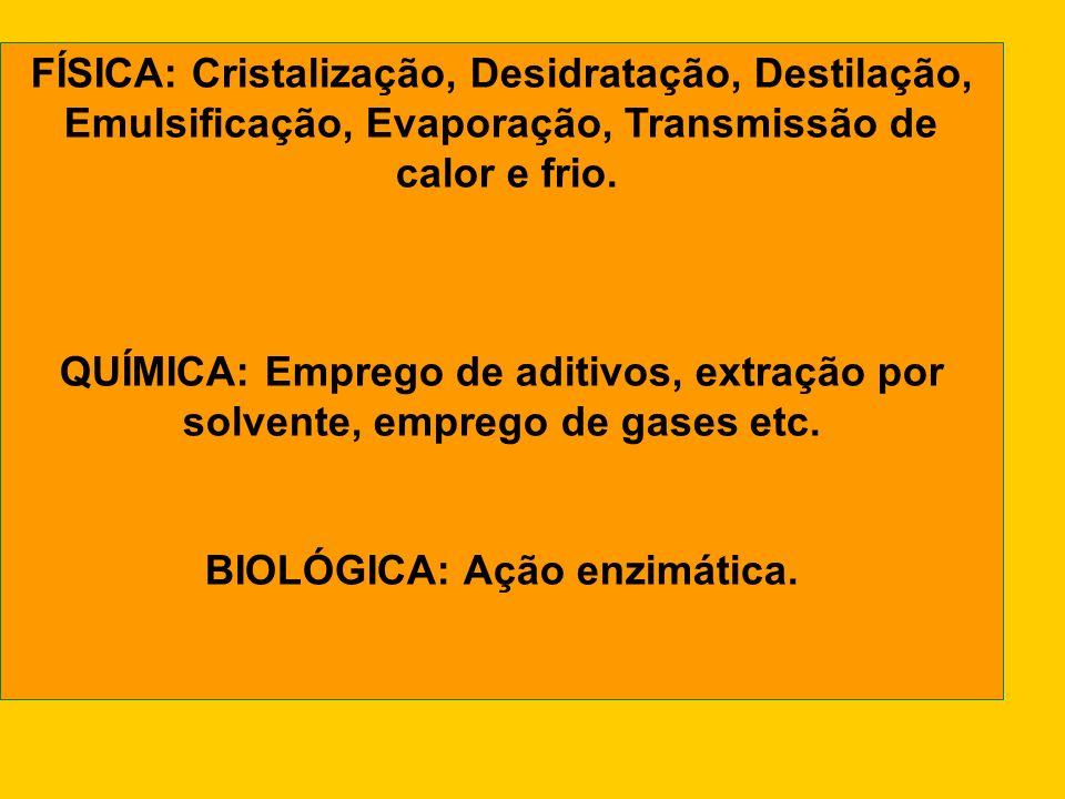 FÍSICA: Cristalização, Desidratação, Destilação,