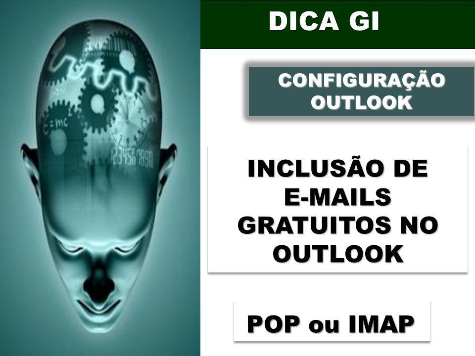 E-MAILS GRATUITOS NO OUTLOOK