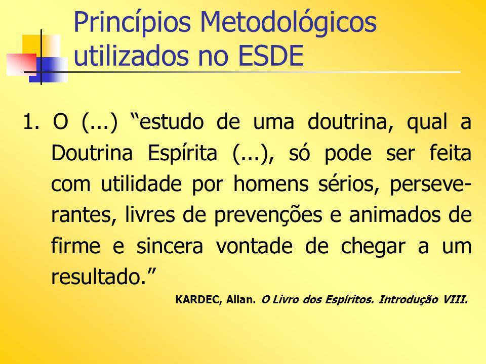 Princípios Metodológicos utilizados no ESDE