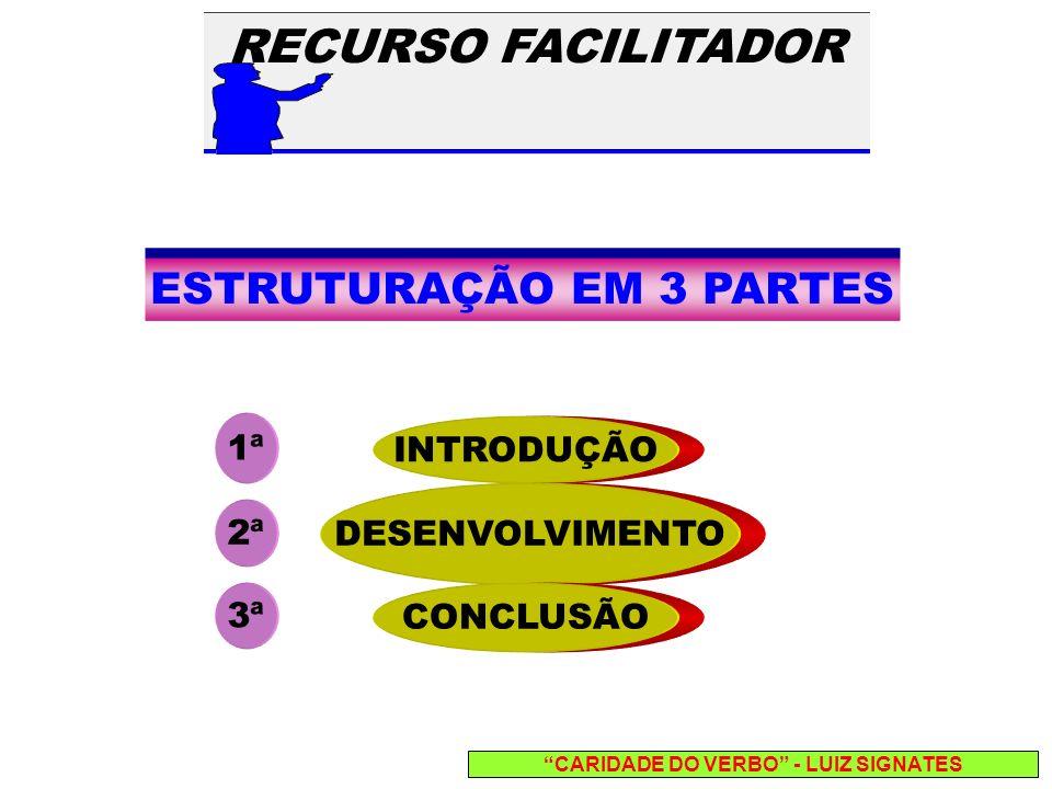 ESTRUTURAÇÃO EM 3 PARTES CARIDADE DO VERBO - LUIZ SIGNATES