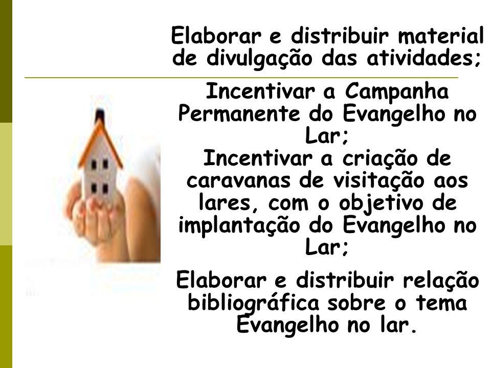 Elaborar e distribuir material de divulgação das atividades;