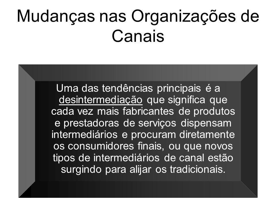 Mudanças nas Organizações de Canais