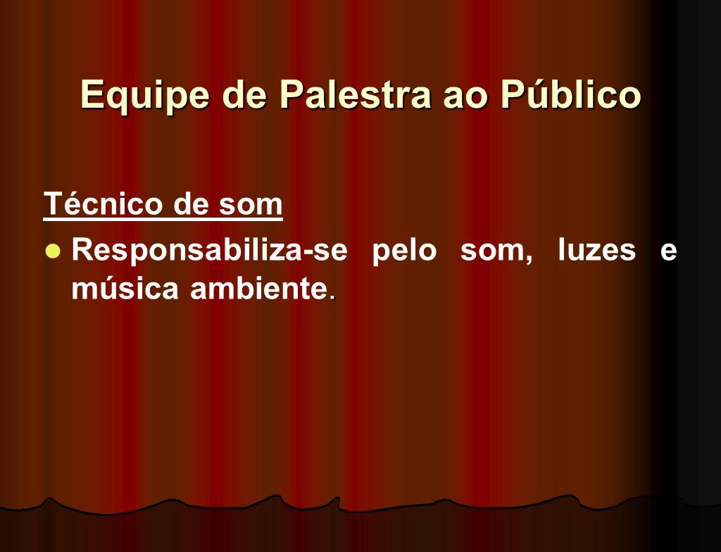 Equipe de Palestra ao Público
