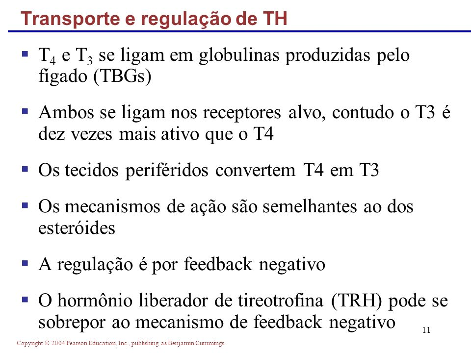 Transporte e regulação de TH