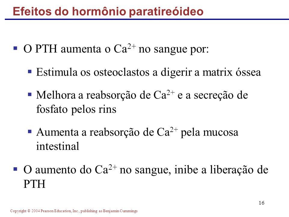 Efeitos do hormônio paratireóideo