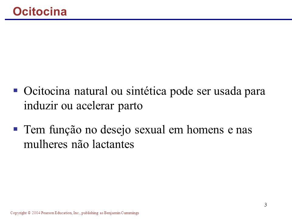 Tem função no desejo sexual em homens e nas mulheres não lactantes