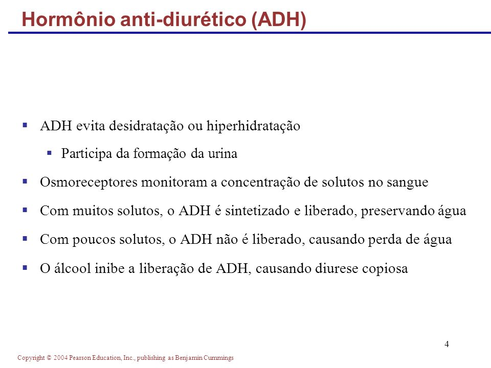 Hormônio anti-diurético (ADH)