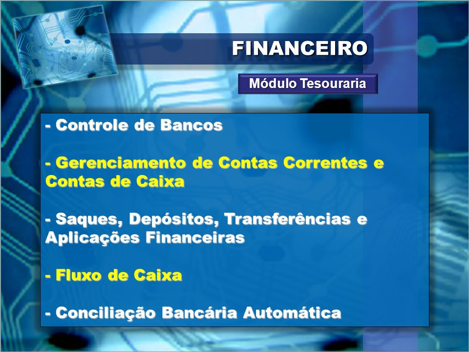 FINANCEIRO - Controle de Bancos