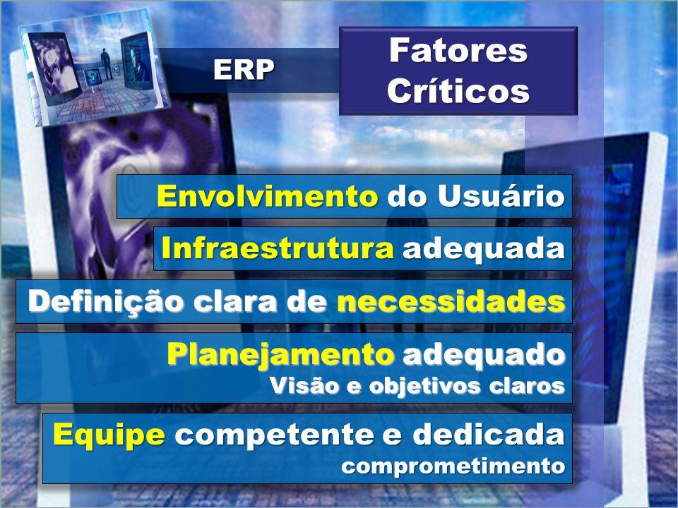 Fatores Críticos Envolvimento do Usuário Infraestrutura adequada