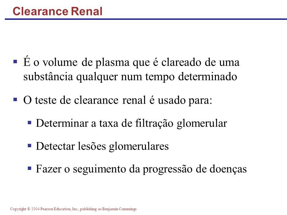 O teste de clearance renal é usado para: